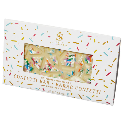 Confetti Bar - White Belgian Chocolate, 60g