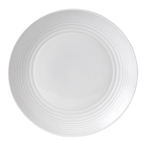 Maze White Dinner Plate, 11-in
