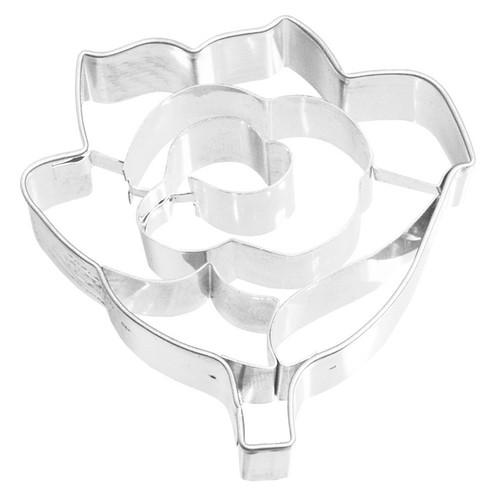 Rose Detailed Cookie Cutter, 6cm