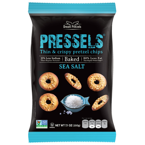 Pressels Sea Salt - Thin & Crispy Pretzel chips, 200g