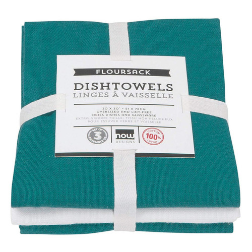 Dishtowels Peacock - Floursack, Set of 3