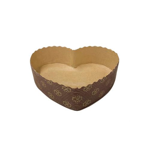 Paper Heart Shape Cake Mold, Set of 6