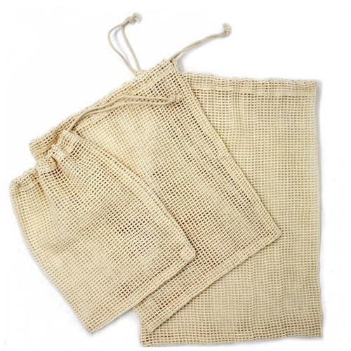 Produce Bags - Cotton Mesh Assorted, Set of 3