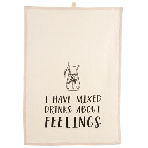 Tea Towel - Mixed Drinks, 20 x 28-in