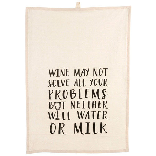 Tea Towel - Wine May Not, 20 x 28-in
