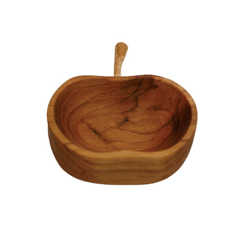 Apple Shaped Teak Bowl - Small