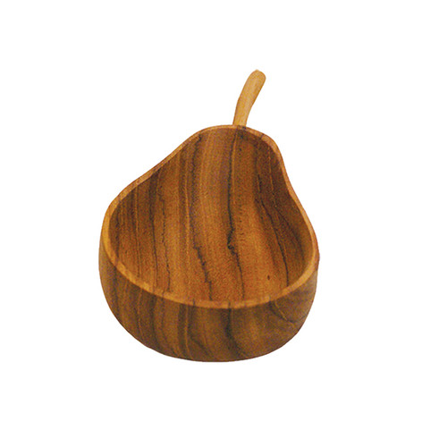 Pear Shaped Teak Bowl - Small