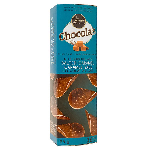 Crispy Thins - Milk Chocolate & Salted Caramel, 125g