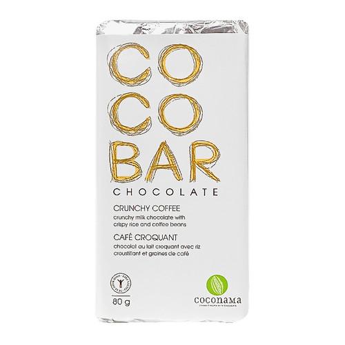 COCOBAR Crunchy Coffee Chocolate Bar, 80g