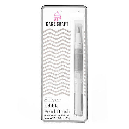 Edible Pearl Brush Pen - Silver, 2g