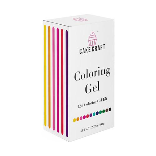 Coloring Gel Kit - Assorted 12-Pack, 360g