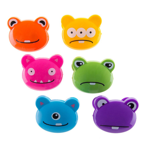 Bag Clips - Crazy Monsters, Set of 6
