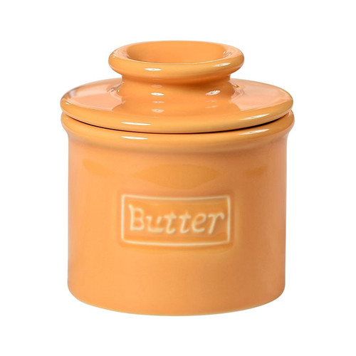 Butter Bell Crock - Cafe Retro, Golden Yellow