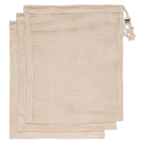 Le Marché Cotton Produce Bags - Natural, Set of 3