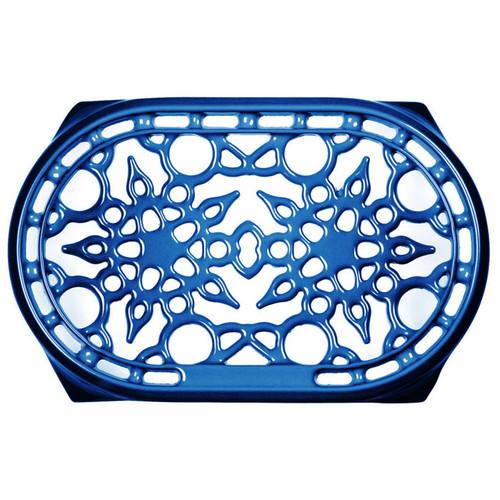 Blueberry Deluxe Oval Trivet - Enamelled Cast Iron