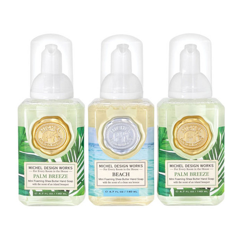 Mini Foaming Hand Soap Set - Palm & Beach, Set of 3
