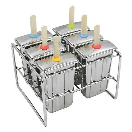 Paddle Popsicle Molds - Stainless Steel, Set of 6