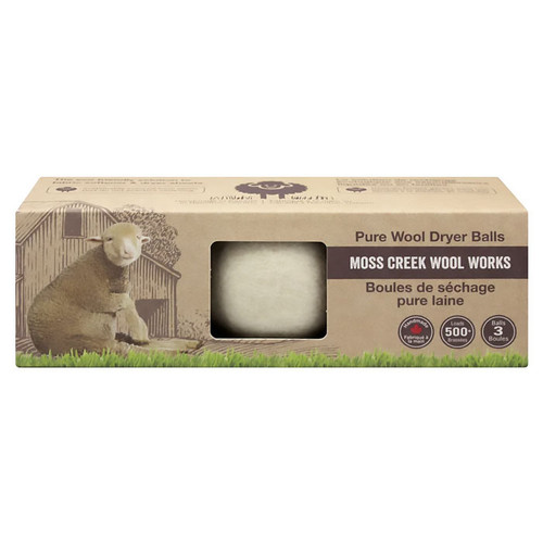 Pure Wool Dryer Balls, Box of 3