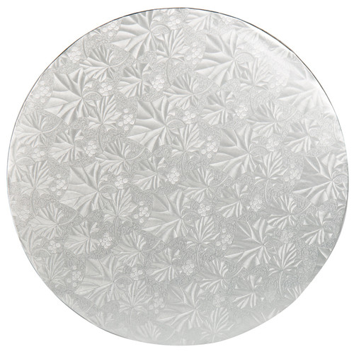 Round Cake Drum - Thick Silver, 12-in