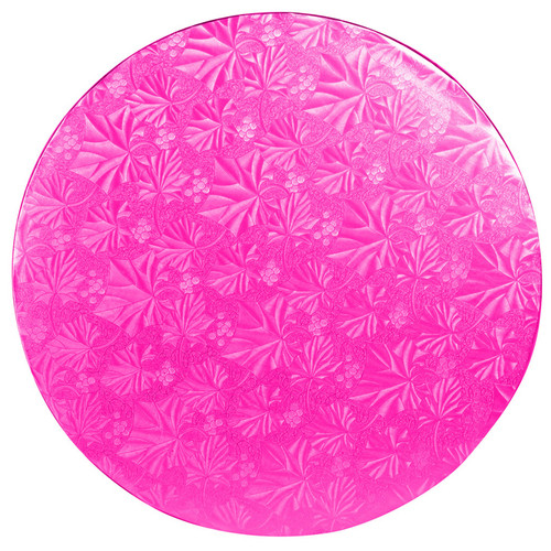 Round Cake Drum - Thick Pink, 12-in