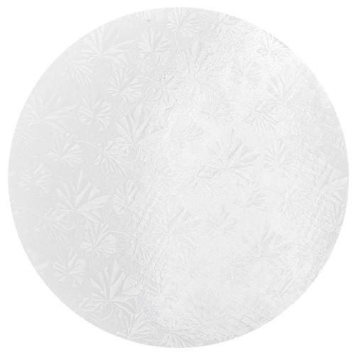 Round Cake Drum - Thick White, 12-in