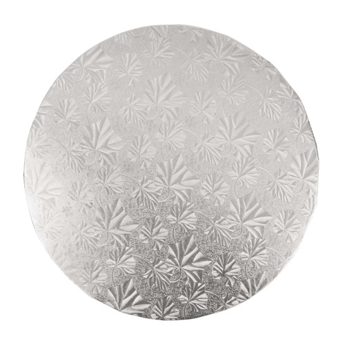 Round Cake Drum - Thick Silver, 10-in