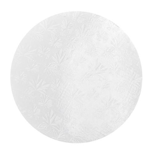 Round Cake Drum - Thick White, 10-in