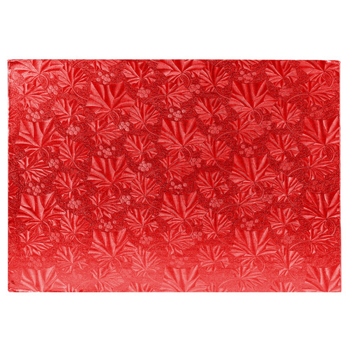 Cake Board Rectangular - Thick Red, 13.75 x 9.75-in