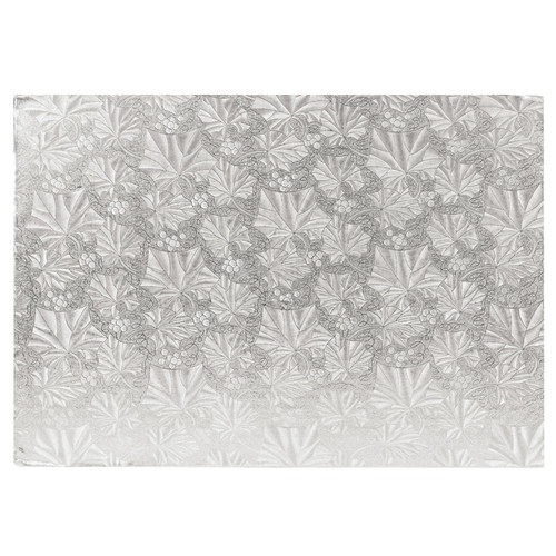 Cake Board Rectangular - Thick Silver, 13.75 x 9.75-in