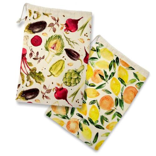 Produce Bags Reusable - Fruits & Veggies, Set of 2