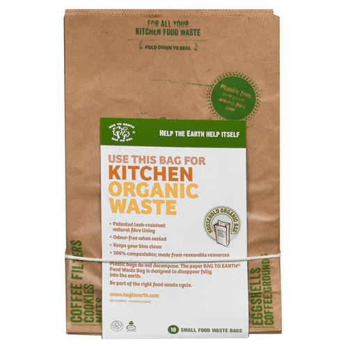 Compostable Leak-Resistant Paper Bags, Pack of 10