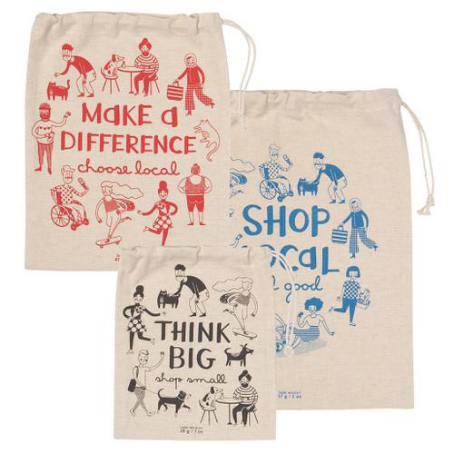 Shop Local - Produce Bag Sets, Set of 3
