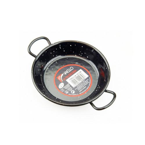 Tapas Paella Pan - Black Enamelled Steel, 12cm
