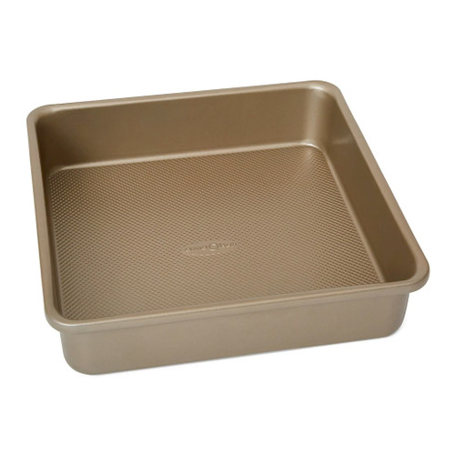 Square Cake Pan - Gold Nonstick, 8.75 x 2-in