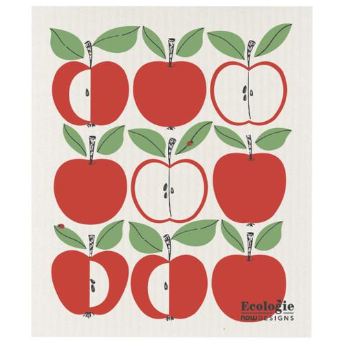 Swedish Dishcloth - Apple Delicious, 6.5 x 8-in