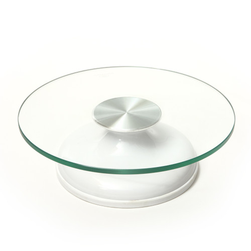 Cake Turntable - Tempered Glass Top, 11.70-in