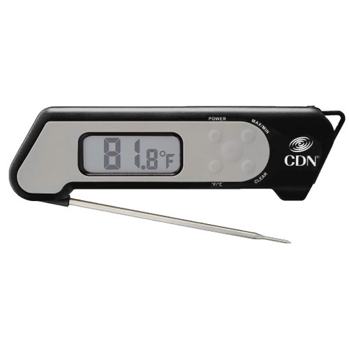 Folding Thermocouple Cooking Thermometer, Black