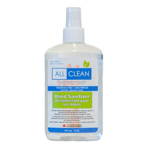 Hand Sanitizer Liquid Spray - 70% Alcohol, 236ml