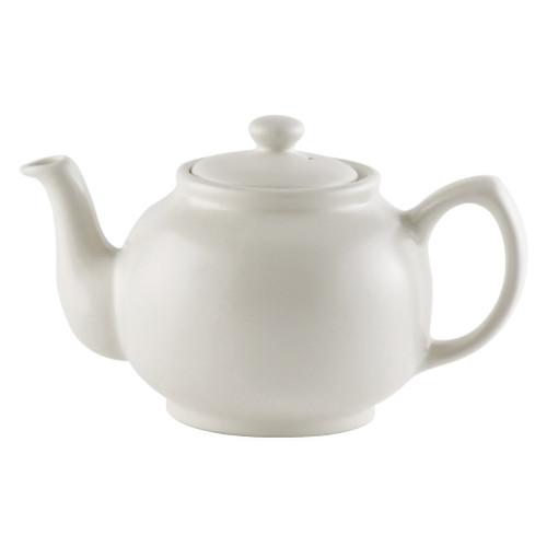 Teapot - Matte Cream Stoneware, 6 Cup