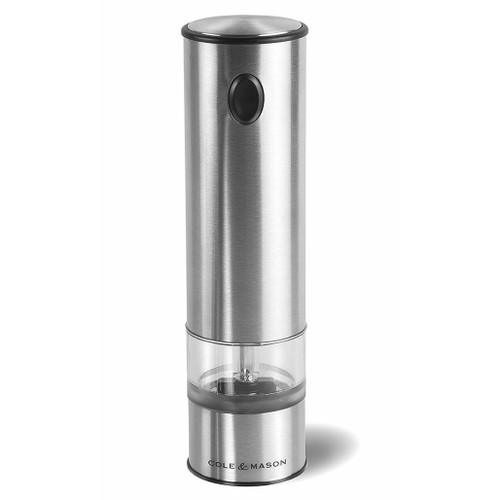 Battersea Electronic Grinder + LED Light - Stainless Steel, 8.5-in