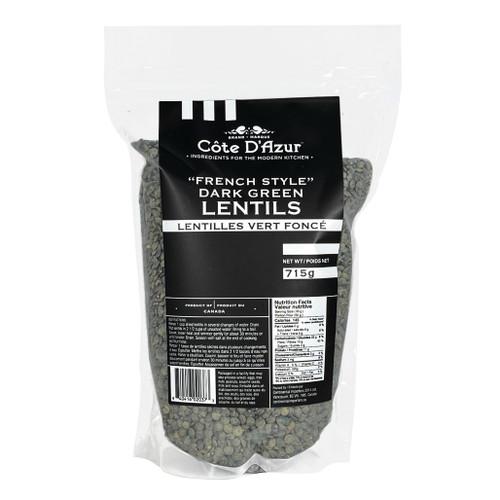 French Style Dark Green Lentils, 715g