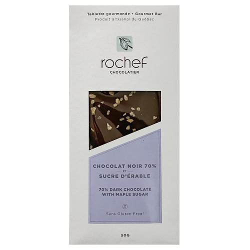 Gourmet Bar Dark Chocolate 70% + Maple Sugar, 50g