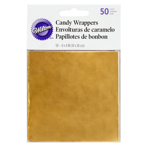 Candy Wrapers - Gold, 50-Pack
