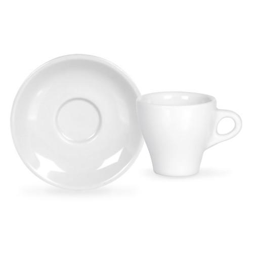 Espresso Cup with Saucer - White Porcelain, 2oz