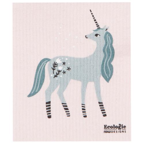 Swedish Dishcloth - Unicorn, 6.5 x 8-in