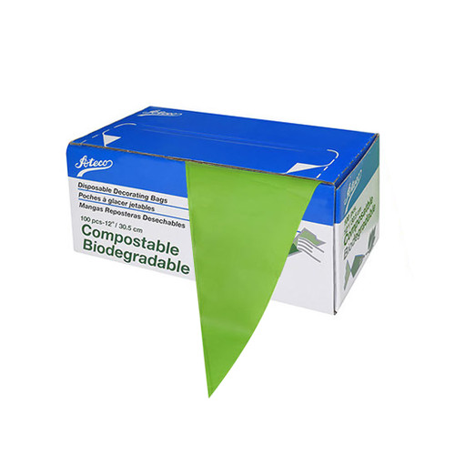 Pastry Bags 12-in - Compostable Biodegrabable, 100 Bags