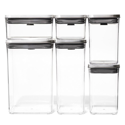 POP 2.0 Container - Stainless Lid Container Set, 6-Piece