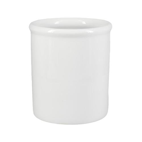 Utensil Holder - White Porcelain, 6.75-in