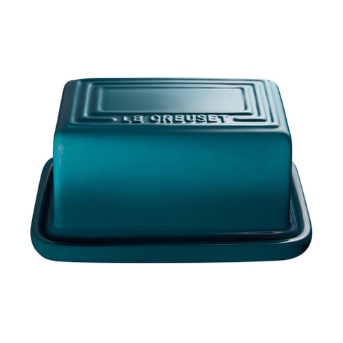 Teal Butter Dish, 1lb