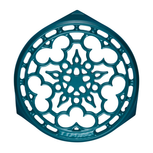 Teal Deluxe Round Trivet - Cast Iron